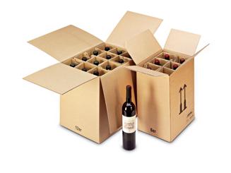 Cajas de botellas